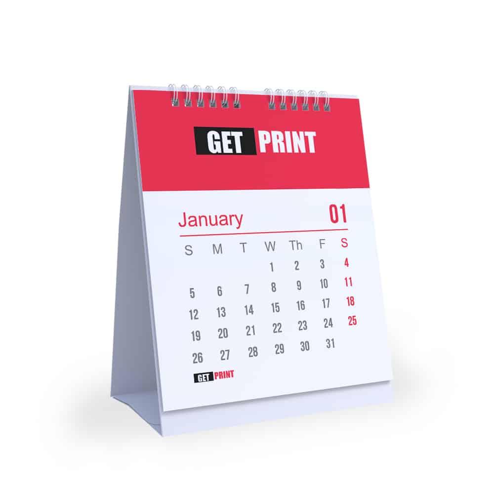 לוח שנה מעוצב שולחני בסיס קשיח קרטון גט פרינט דפוס לעסקים get print