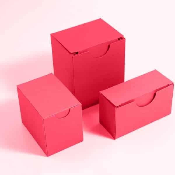 קופסה מעוצבת עם מכסה אינטגרלי מרובעת